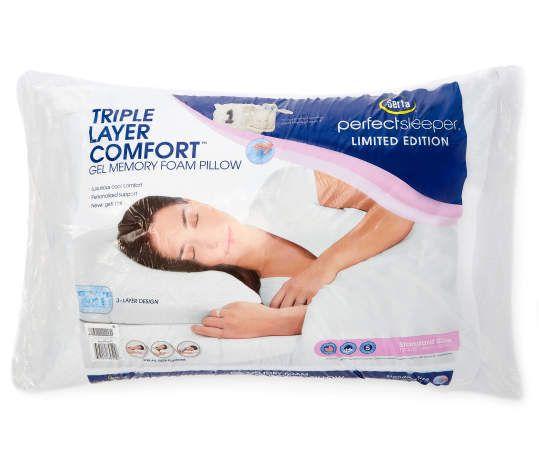 triple layer comfort gel memory foam