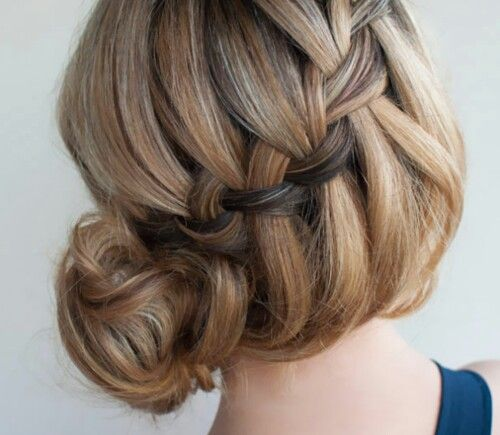 French braided loose bun