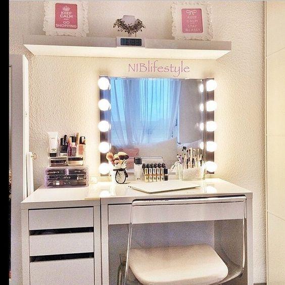 Ikea micke white vanity desk pinterest beauty for Beauty vanity desk