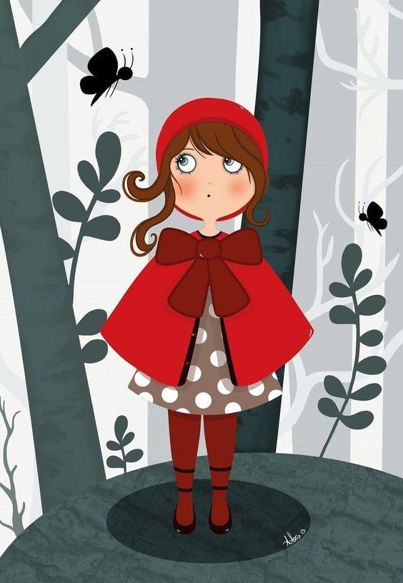 Le petit chaperon rouge : Affiches, illustrations, posters par adora-illustrations