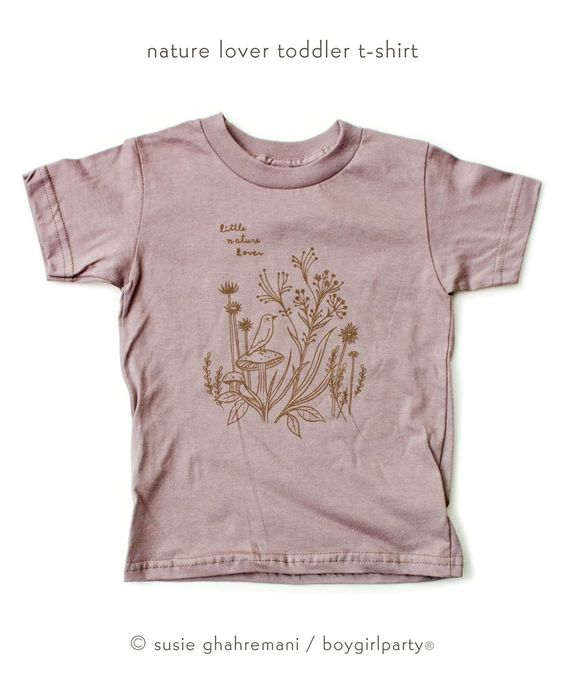 Organic kids t-shirt illustrated by Susie Ghahremani! Original artwork silkscreened onto super soft, organic t-shirts in toddler and kids sizes.