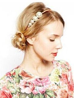 White Pearly Weave Headdress