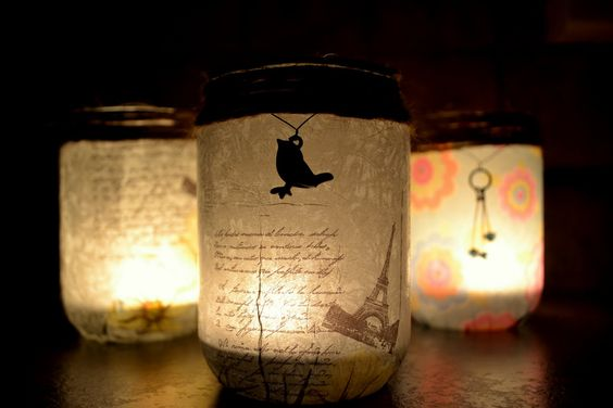 Jam jar votives!  http://psheart.blogspot.ca/#