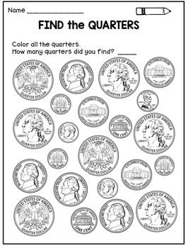 money worksheets coin identification activities coins activities and colors. Black Bedroom Furniture Sets. Home Design Ideas