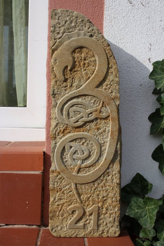 Carved stone norse pinterest posts house numbers