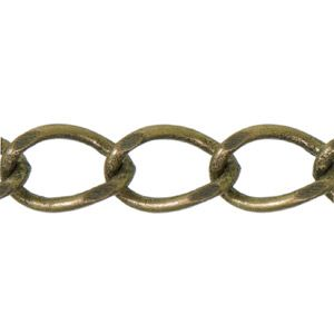 2.8mm Antique Brass Plated Base Metal Curb Chain