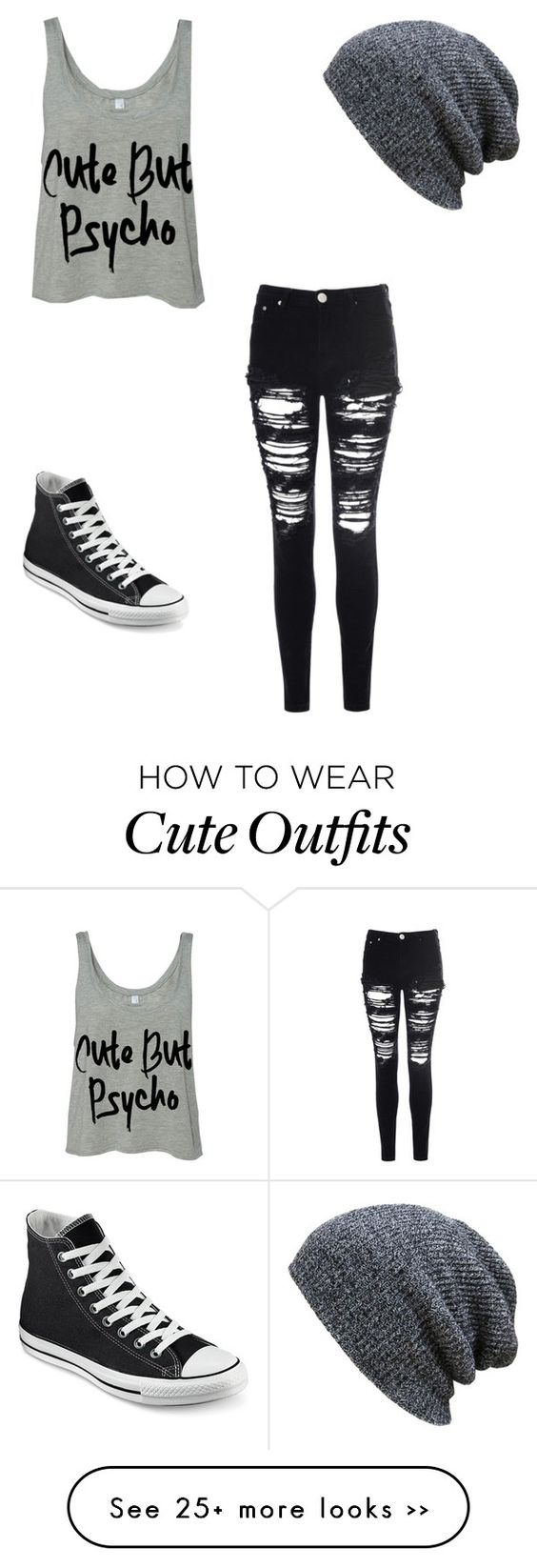 """Out at night"" by anaf02216 on Polyvore featuring Glamorous and Converse:"