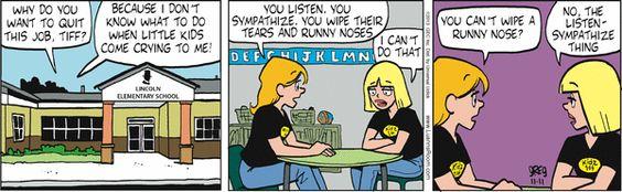 Luann Comic Strip explains three key qualities of a good teacher