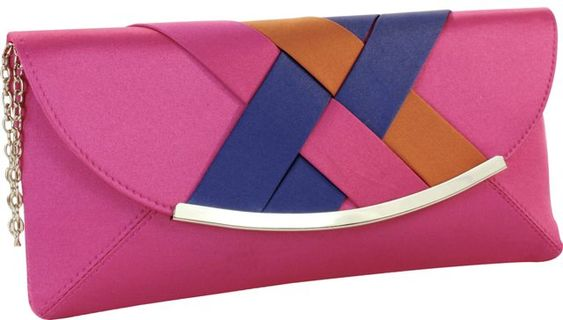 $35.00  Nice & Bright Foldover Clutch! Perfect for color blocking!    Dimensions:11 x 5 x 1