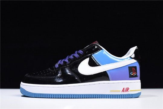 Cheap PlayStation x Nike Air Force 1 18QS Low WMNS Navy Blue
