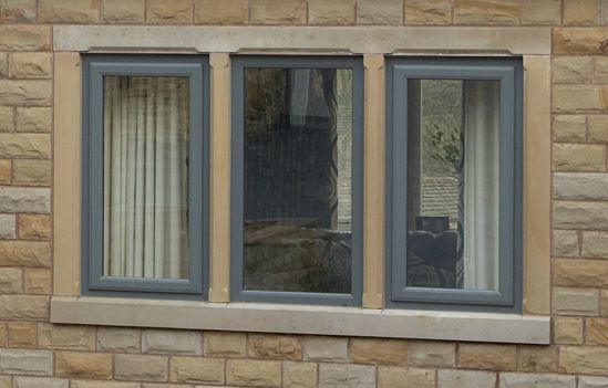 Coloured windows upvc window colours from clearview home for Black upvc patio doors