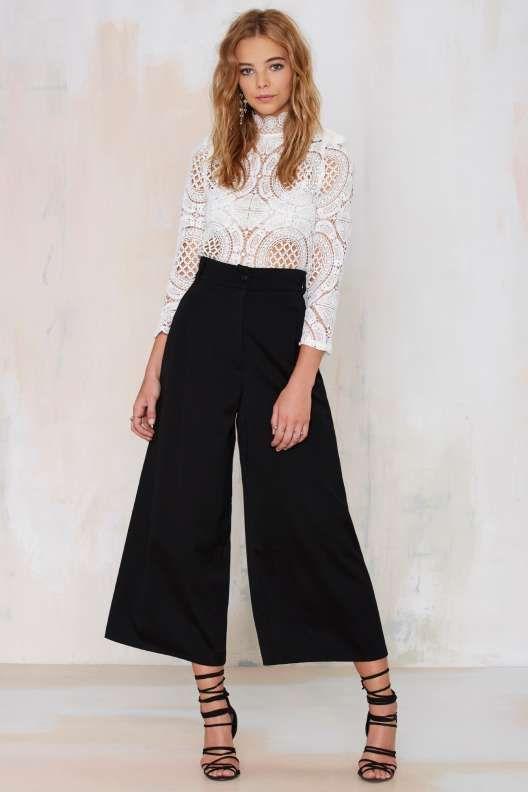 Vintage Byblos Annalisa Wide-Leg Trousers
