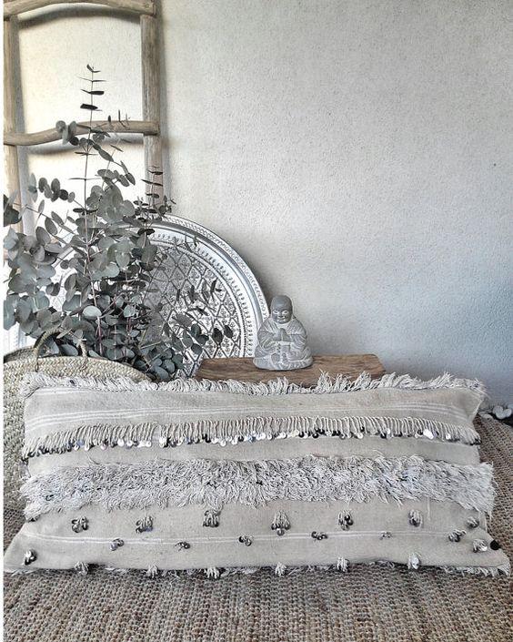 XL RÉSERVÉ handira oreiller sahla couverture par azulbereber