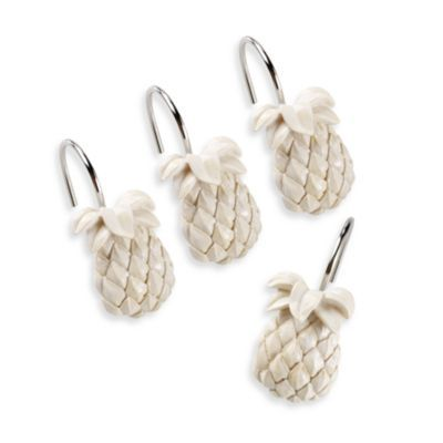 Buy Tommy Bahama® Pineapple Shower Curtain Hooks (Set of 12) from ...