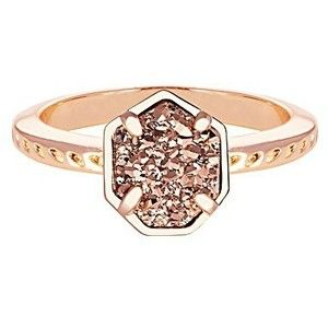 Calvin Ring | Rose Gold Drusy