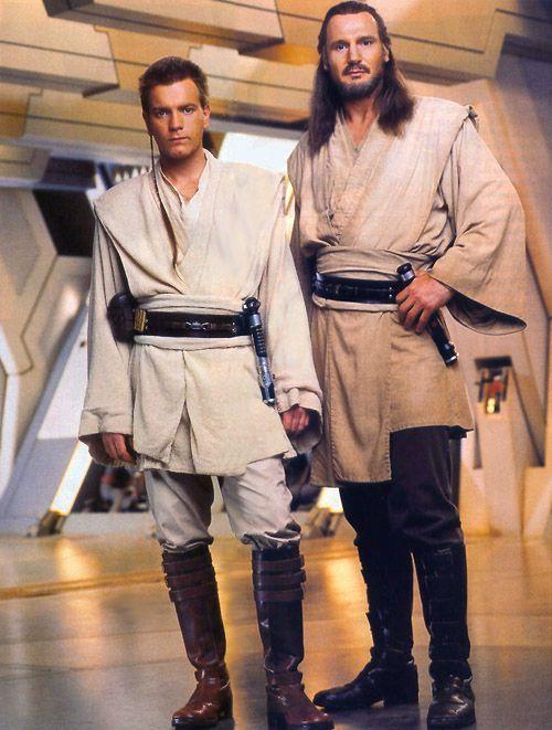Episode 1: The Phantom Menace Padawan Obi-Wan Kenobi (Ewan McGregor) and Jedi Master Qui-Gon Jin (Liam Neeson)
