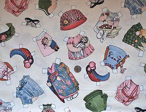 paper dolls fabric
