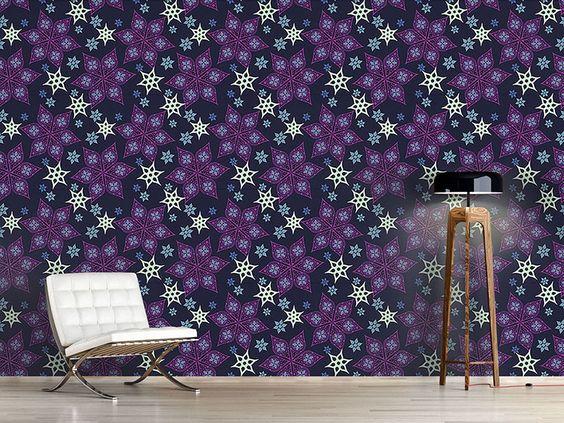 Design #Tapete Russische Sternblumen
