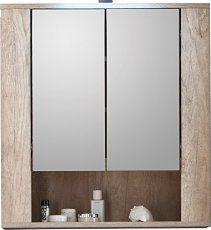 trendteam ST50326 Badspiegelschrank, BxHxT 70 x 75 x 22 cm, Eiche dunkelbraun