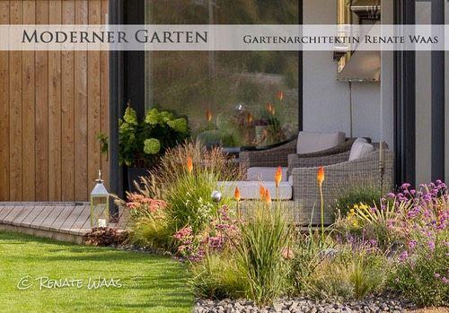 modern gardendesign - modern garden - moderne Gartengestaltung mit - garten mit grasern und kies