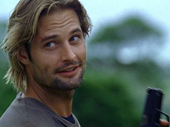 """Josh Holloway. This is a classic Sawyer face. I can so see him sayin something like """"catcha later freckles""""  #Lost"""