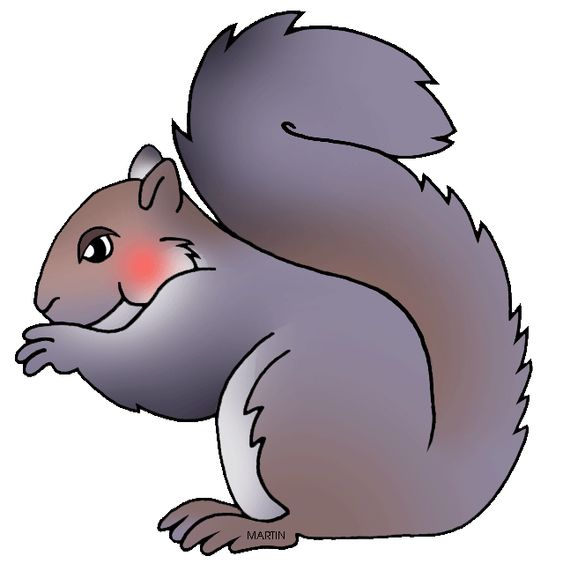 Praying Squirrel Clip Art