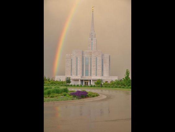 South Jordan Oquirrh Mountain Temple on a rainy day by Holly Jones, Salt Lake City, Utah
