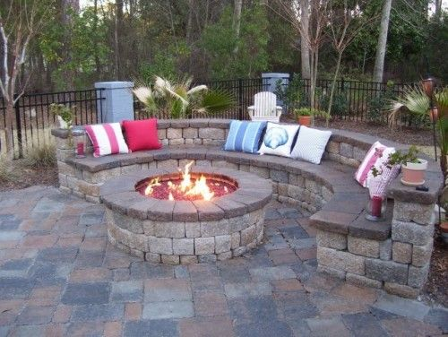 paver block bench and pit