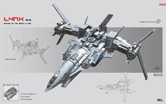 Spaceship design concepts by KaranaK