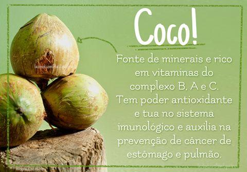 Clique na imagem e conheça os benefícios do coco para a saúde: