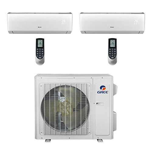 Gree Multi18cliv201 18 000 Btu Multi21 Dual Zone Wall Mount Mini Split Air Conditioner Heat Pump 208 230v 9 12 Heat Pump Window Unit Gree