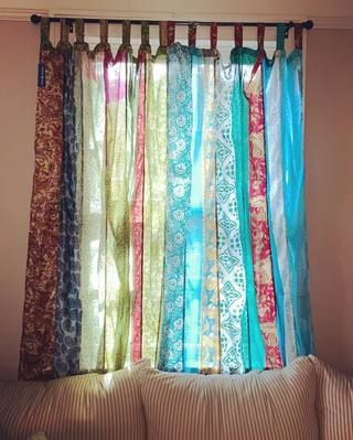Recycled Silk Panel Curtain In 2020 Unique Curtains Boho Curtains Bohemian Curtains