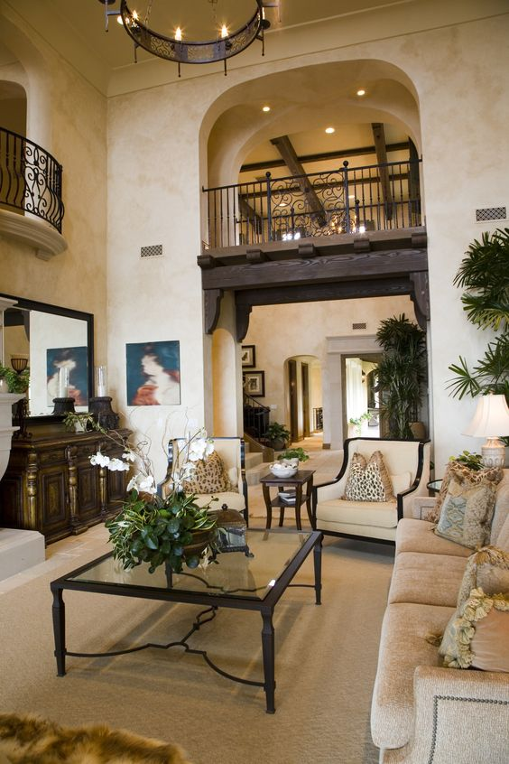 650 Formal Living Room Design Ideas for 2017 | Mediterranean style,  Balconies and Living rooms