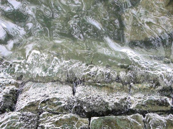 Wasserstrudel, Landschaft, FOTO von GIMOOTO, Motiv gedruckt auf Satin Canvas Leinwand
