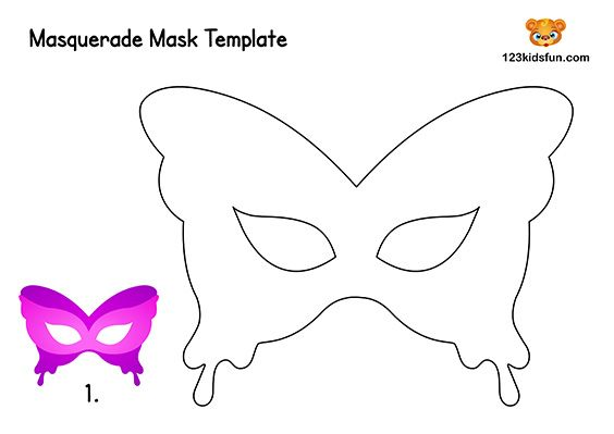 Free Printable Masquerade Masks Template 123 Kids Fun Apps Mask Template Printable Masquerade Mask Template Butterfly Printable