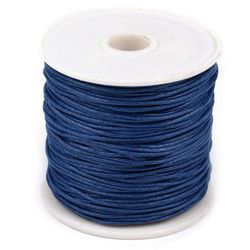 Baumwollschnur gewachst 1 mm dunkelblau - 20 m
