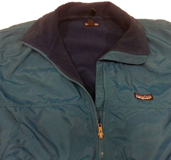 Patagonia Jacket Small Mens Blue Bomber Nylon Shell Fleece Lined