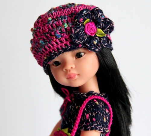 OUTFIT-Puppenkleidung-fuer-32-36cmPuppe-Set3tlg-NEU-Paola-Reina-Effner-Minouche