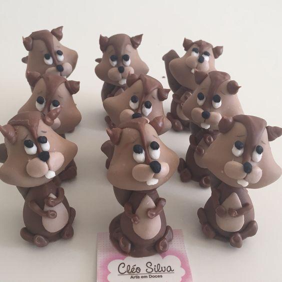 Veja que fofo feito de brigadeiro com chocolate