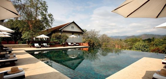 Gorgeous resort set high in the hills looking over UNESCO World Heritage Site, Luang Prabang. Rooms on sale till July 31, 2012: https://impulseflyer.com/luxury-hotels-in/laos/luang-prabang