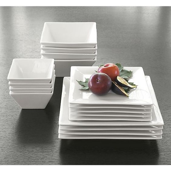 "Square Rim 10.25"" Large Plate in Dinner Plates 