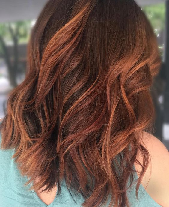 "✨BALTIMORE HAIRSTYLIST✨ on Instagram: ""A Way Back Wednesday today 🔥! I'm in Asheville and this hair color looks like all the leaves 🍁 here I just had to repost it 🤗!"" #redhaircolor"