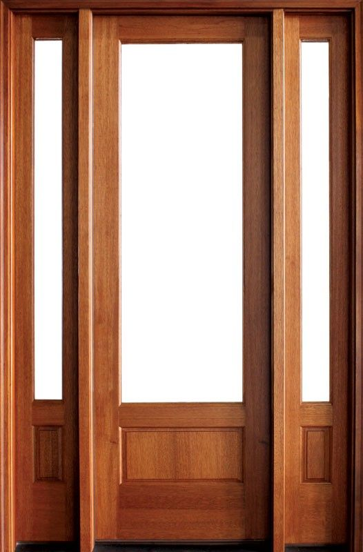 Mahogany Alexandria 1 Lite Impact Single Door 2sidelite 2 1 4 Thick Single Doors French Doors Patio Doors