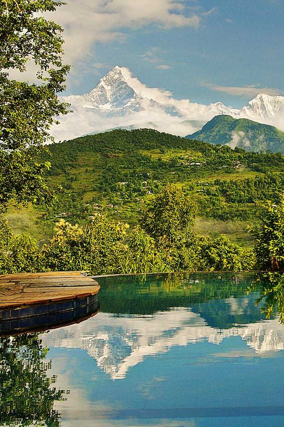 Tiger Mountain Pokhara Lodge in Nepal is surrounded by breathtaking views of the mighty Himalayas #Indistay | Pokhara, Nepal: