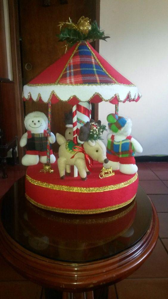 Carrusel de navidad mu ecos de tela buscar con google - Munecos de navidad ...