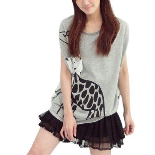 Allegra K Women's Semi Sheer Dots Print Back Bat Wing Sleeve Shirt