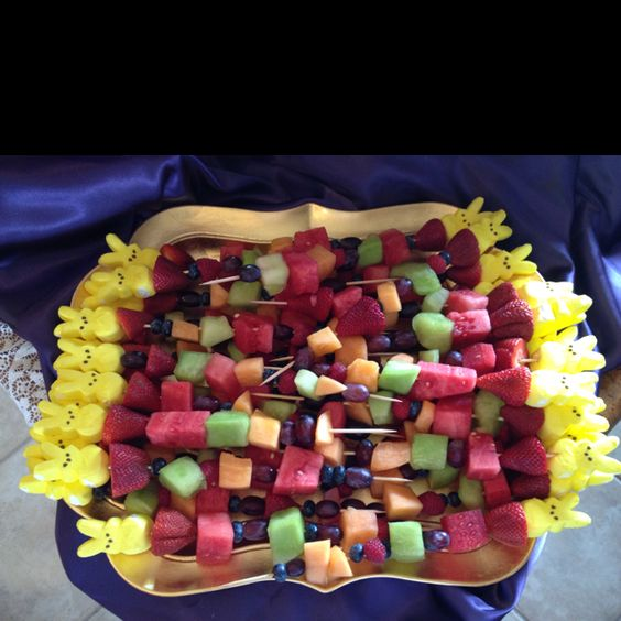 Fruit kabobs with bunny peep | Easter fun | Pinterest ...