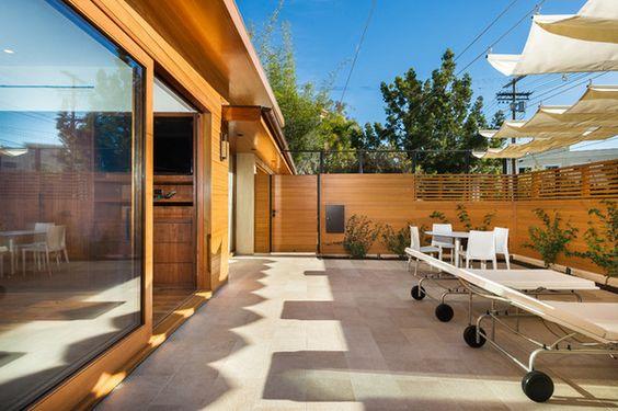 Modern Patio by Kurt Krueger Architect