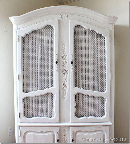 Chicken Wire Kitchen Cabinet Doors: Cabinet Transformations, Chicken Wire And Wire On Pinterest