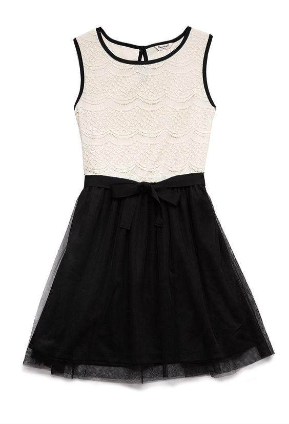 Oasis 2 in 1 lace dress girls
